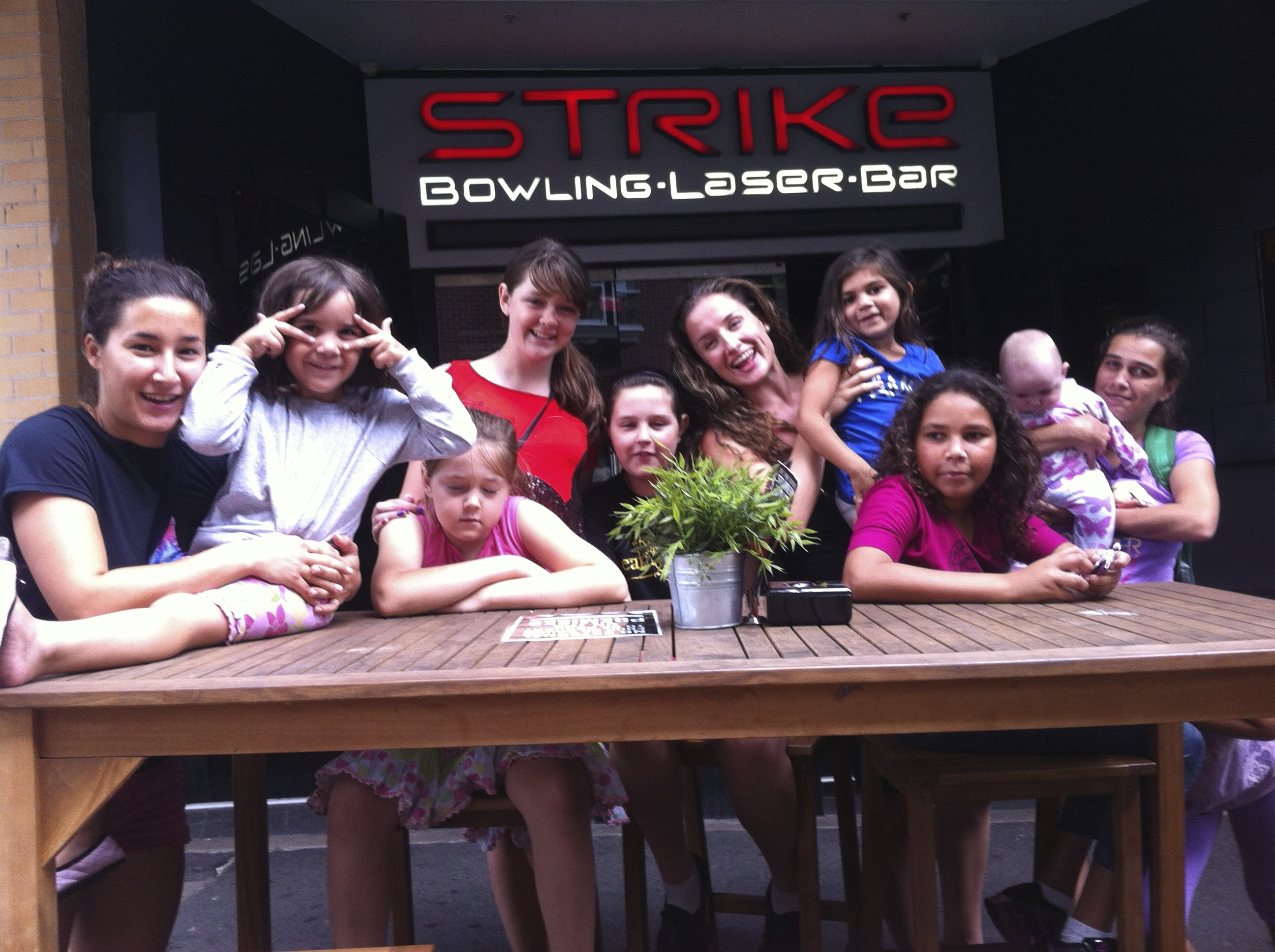 Afternoon outing of bowling and laser tag!